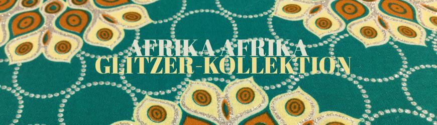 Afrika Waxprints mit Glitzer