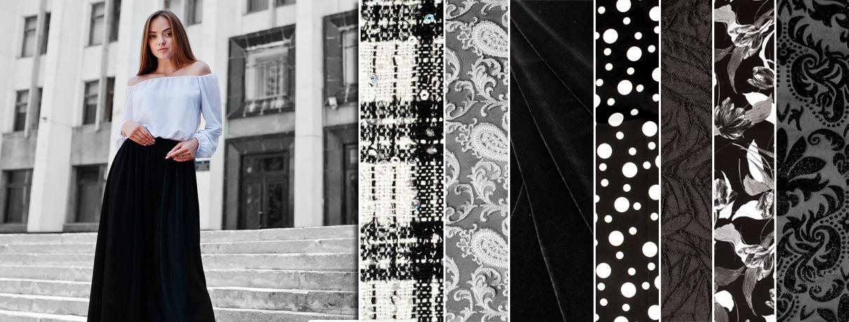Modetrend schwarz - weiß