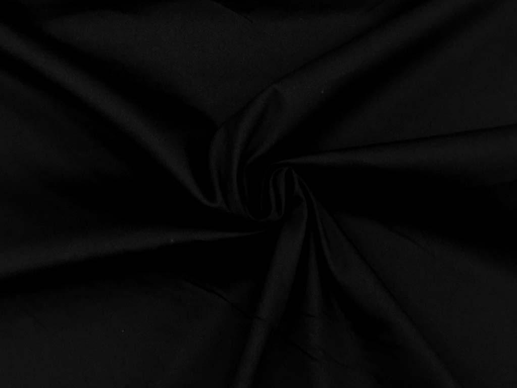 BW Stretch Satin schwarz