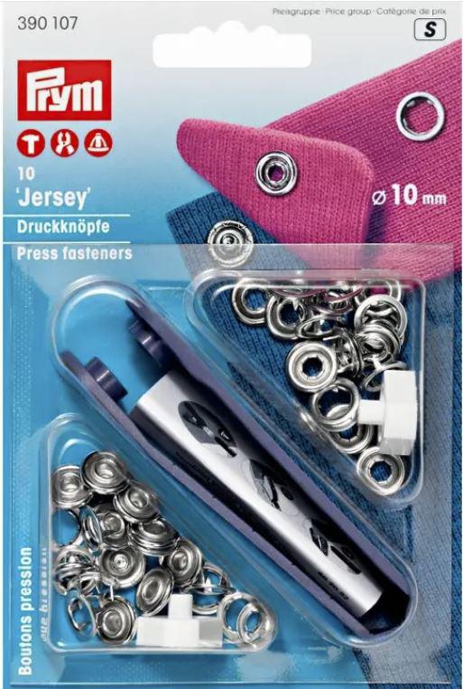 Jerseydruckknöpfe Metallring