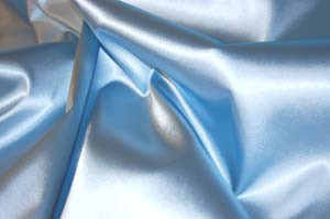 Stretch Satin mittelblau