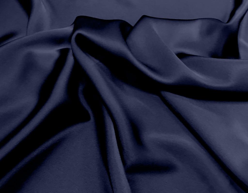 Triacetat Satin nachtblau