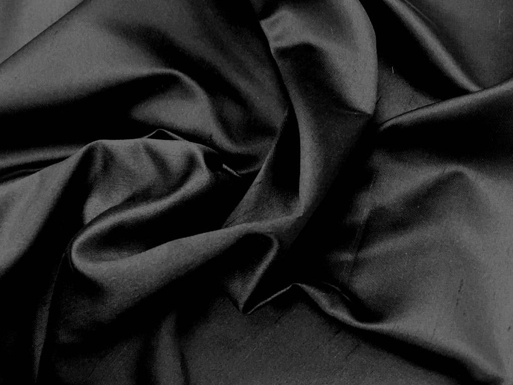 Shantung schwarz