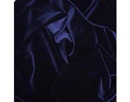 PE Stretch-Samt dunkelblau