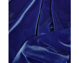PE Stretch-Samt Blau