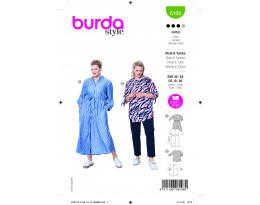 Schickes Hemdblusenkleid / Kragenlose Bluse