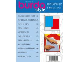 Kopierpapier blau/rot
