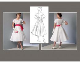 Kleid mit Schärpe
