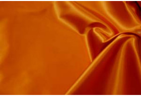 Stretch Satin dunkelorange