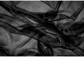Organza schwarz