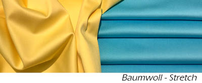 Baumwoll - Stretch - Satin