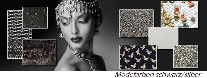 Modetrend Schwarz/Silber